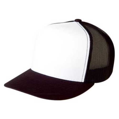 Mens White And Black Net Head Cap Material: Net, Polyster