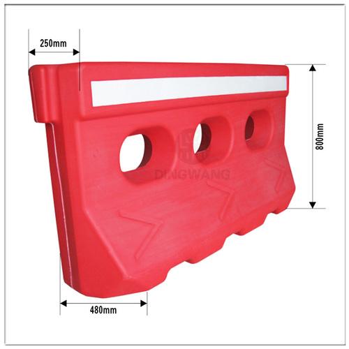 Tensile Strength Plastic Traffic Barrier