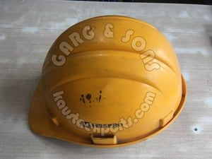 Half Face Yellow Color Industrial Safety Helmets