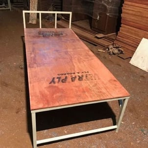 Metal and Wooden Single Cot