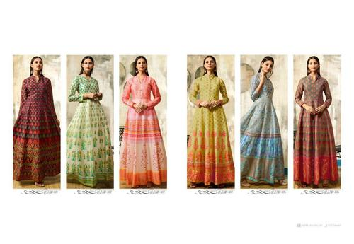 Chanderi Printed Gowns