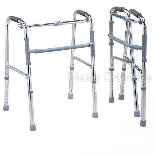 Adjustable, Waist High Frame Stainless Steel Rehabilitation Walker For Hospital And Personal