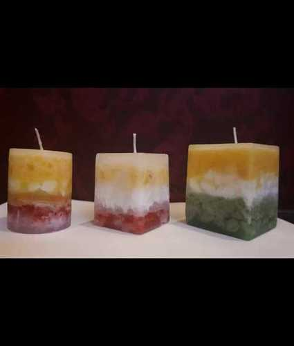Decorative Round Wax Candles