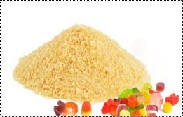 Light Brown Edible Gelatin Powder