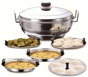 Induction Based Stainless Steel Kadhai (2.5 Ltr)