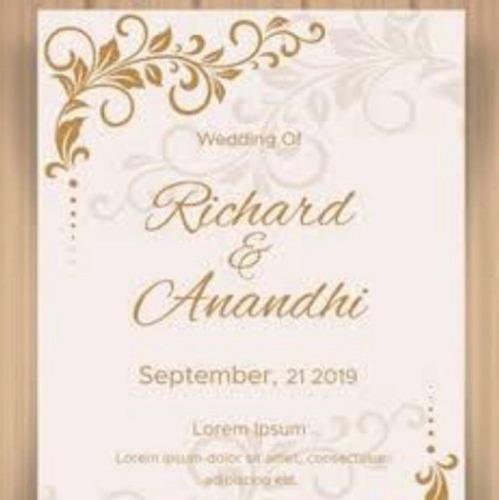 Designer Wedding Invitation Cards Size Customized Price 25 Inr Piece Id 6161057