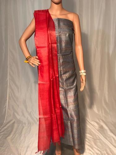 Pure Tussar Silk Kurti Dupatta Set 2.5 Mtrs Each