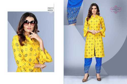 Yellow Color Ladies Kurti