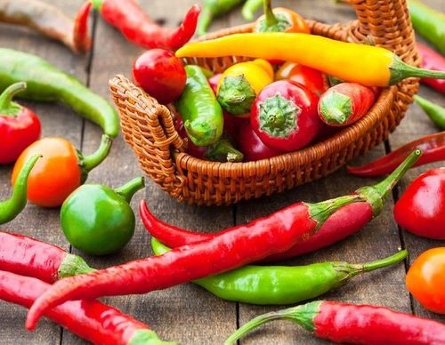 Natural Fresh Chilli (Red, Yellow, Green)