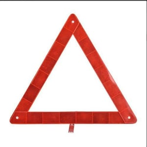 Reflective Red Warning Triangle
