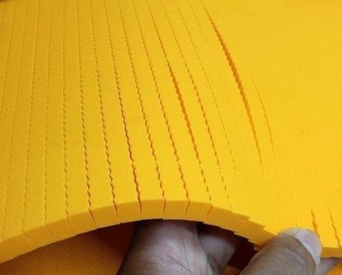 Yellow Wave Rubbers Sheet Hardness: 35 Shore