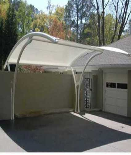 White Car Parking Fabricator Shed