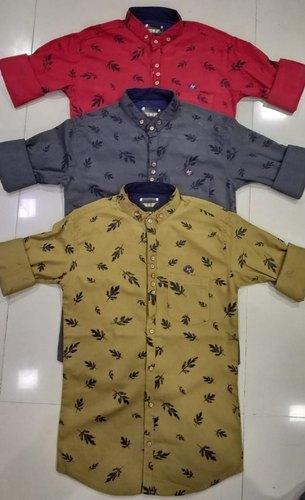 Multi Color Cod Printed Mens Shirt