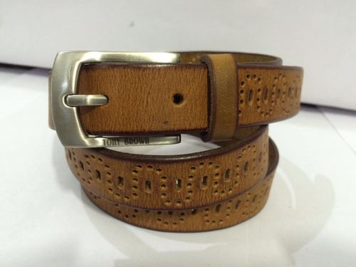 Grain Leather Casual Mens Belts