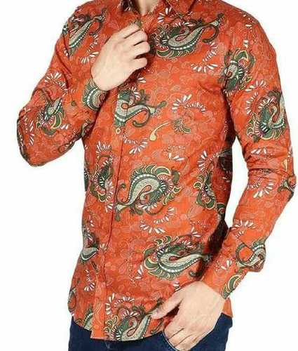 Printed Pattern Men Shirt
