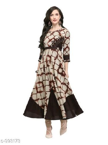 Designer And Fancy 3/4th Sleeve Rayon Kurtis