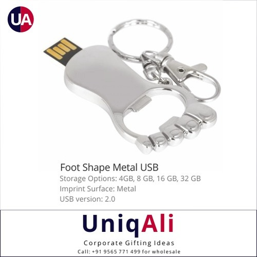Foot Shape Metal USB Pen Drive