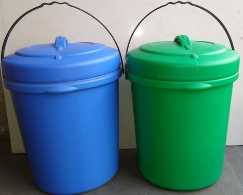 Green And Blue Garbage Bins