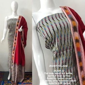 Ikkat Cotton Printed Suits