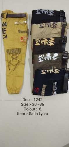 Black Pure Cotton Kids Cargo Pants