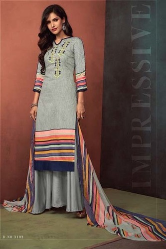 Sajawat Creation Noor Pure Heavy Cotton Satin Suits