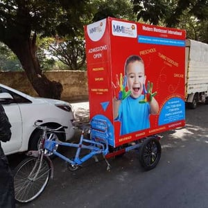 Tricycle Outdoor Advertising Service