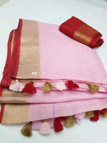 Women Designers Linen Saree