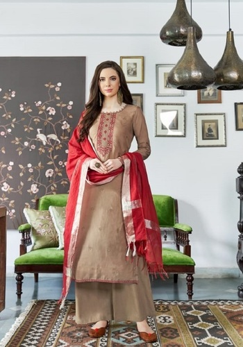 Viscose Muslin Embroidery Work Salwar Suit