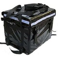 Plain Black Motorcycle Delivery Box
