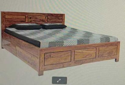 Brown Termite Proof Rosewood Double Bed