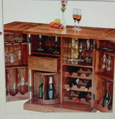 Trio Wooden Bar Cabinet