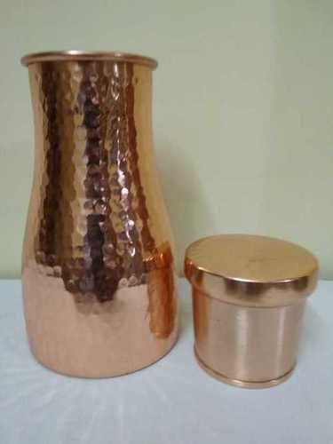 Round Copper Vessel For Drinking Water