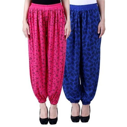 Ladies Cotton Printed Harem Pants Size: Small