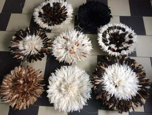 Multi Color Natural Feather Juju Hats