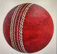 Red Leather Cricket Ball