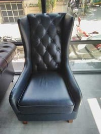 Single Seater Leather Wing Chair