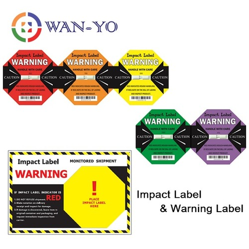Fragile Warning Sticker With Impact Indicator Label Application: Shock / Vibration / Drop Detection For Logistics