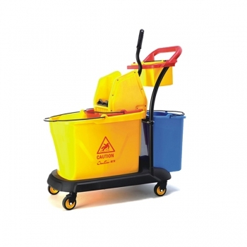 Three Bucket Cleaning Trolley