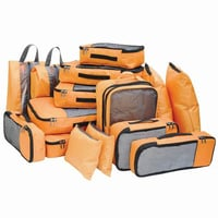 Travel Pouch, Luggage Suitcase And Backpack Organizer Set Of 15