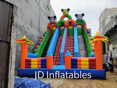 Outdoor Inflatable 4 Len Slide Bouncy Castle