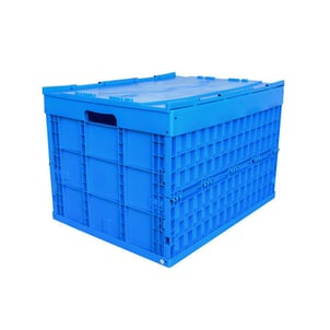 760x580x520 MM PP Plastic Foldable Storage Box with Lid