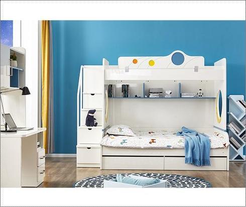 Multicolor Attractive Designs Kids Bunk Bed