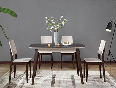 Wood Attractive Wooden Dining Table Set