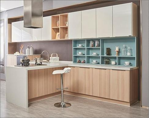 Multicolor Bright Nordic Modular Kitchen