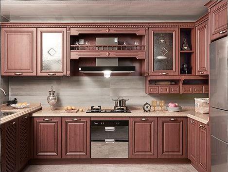 Multicolor Classical Europe Modular Kitchen
