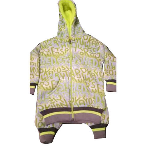 Kids Full Sleeve Printed Hooded Jacket
