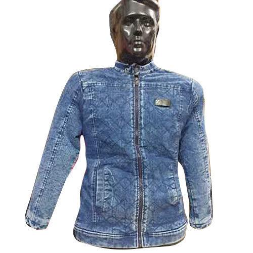 1 Mens Blue Full Sleeve Denim Jacket
