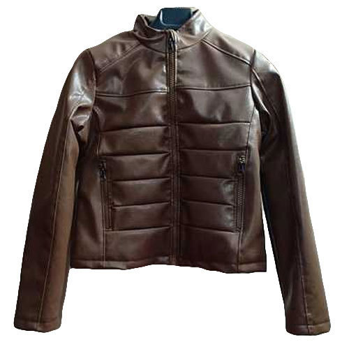 Color Mens Leather Full Sleeve Brown Jacket