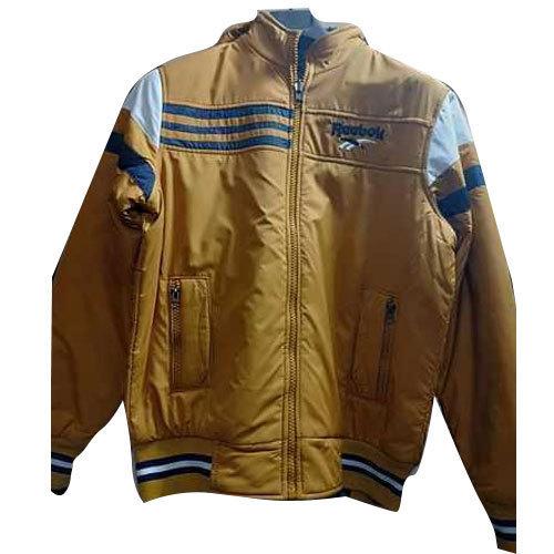 Color Mens Reebok Leather Jacket