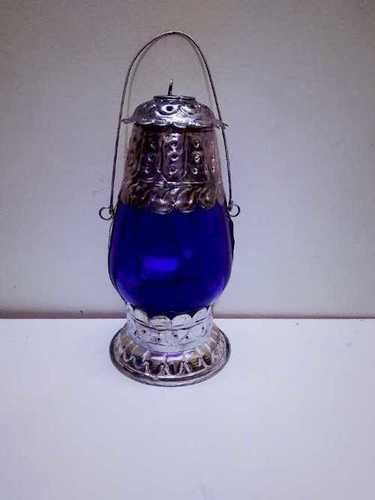 Silver & Blue Decorative Lantern For Diwali Festival